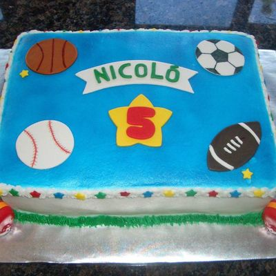 Sports Themed Birthday Cake