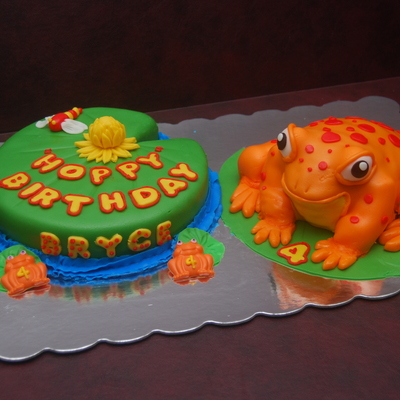 Frog & Lily Pad Cake on Cake Central