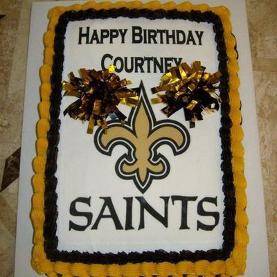 New Orleans Saints Cheerleader Cake