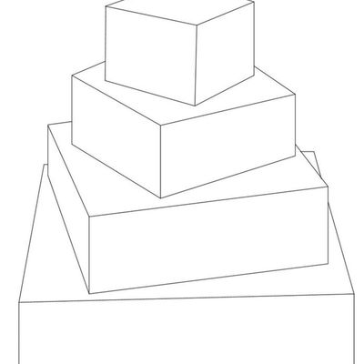 4 Tier Rotated Squares