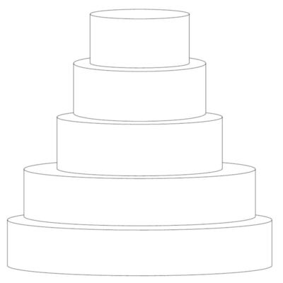 "5 Tier: 16"", 14"", 10"", 8"" And 6"""