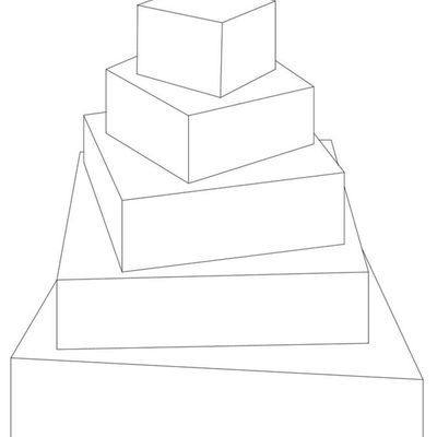 5 Tier Rotated Squares