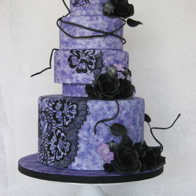 Christian Lacroix Inspired Wedding Cake