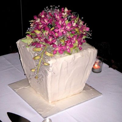 Singapore Orchid Wedding Cake on Cake Central