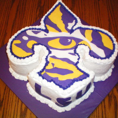 Surprising Lsu Cake Decorating Photos Personalised Birthday Cards Veneteletsinfo