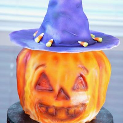 Sculpted Pumpkin on Cake Central