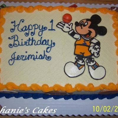 Jerimiah's 1St (Sporty Mickey Mouse)