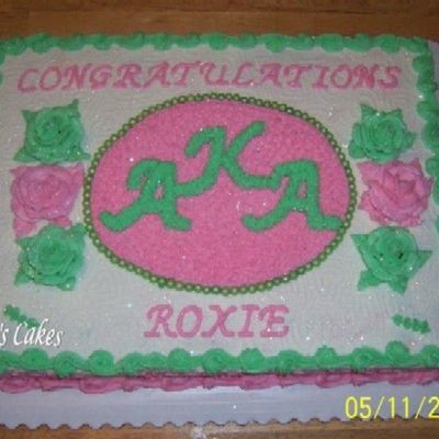 Alpha Kappa Alpha Sorority (Congratulations Roxie)