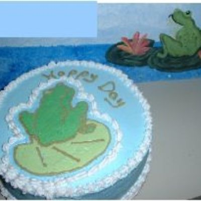 Frog Cake For One Of My Painting Students