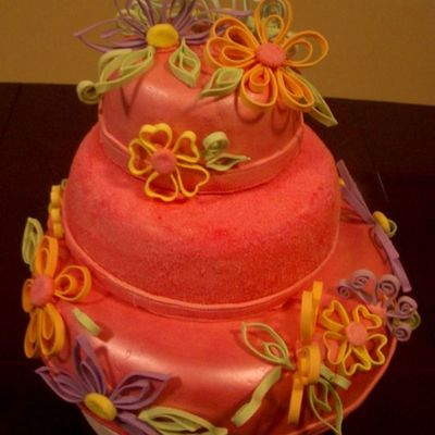 Quilling Cake For My Daughter