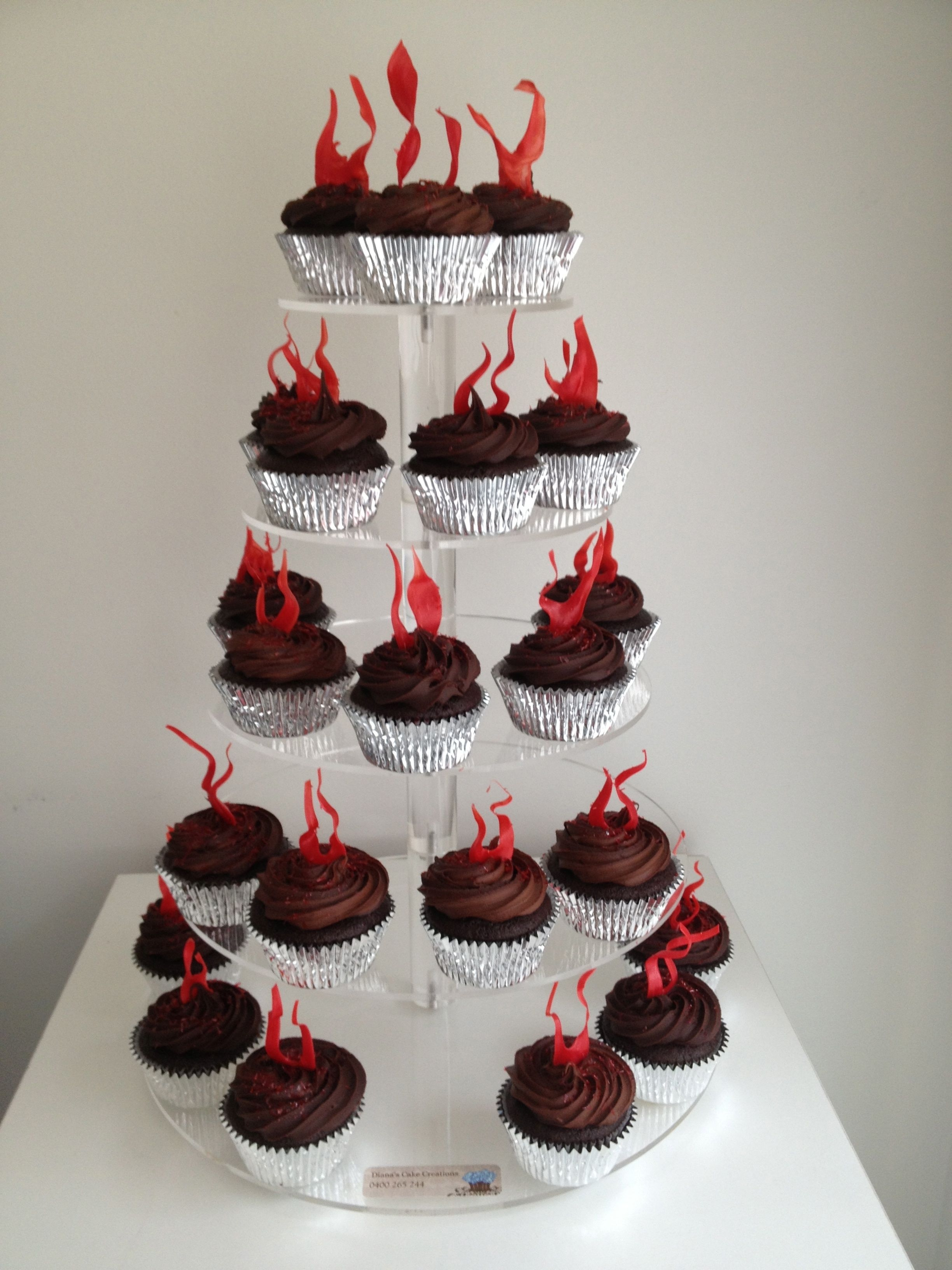 Fire And Ice Themed Cake The Flames Are Isomalt And The