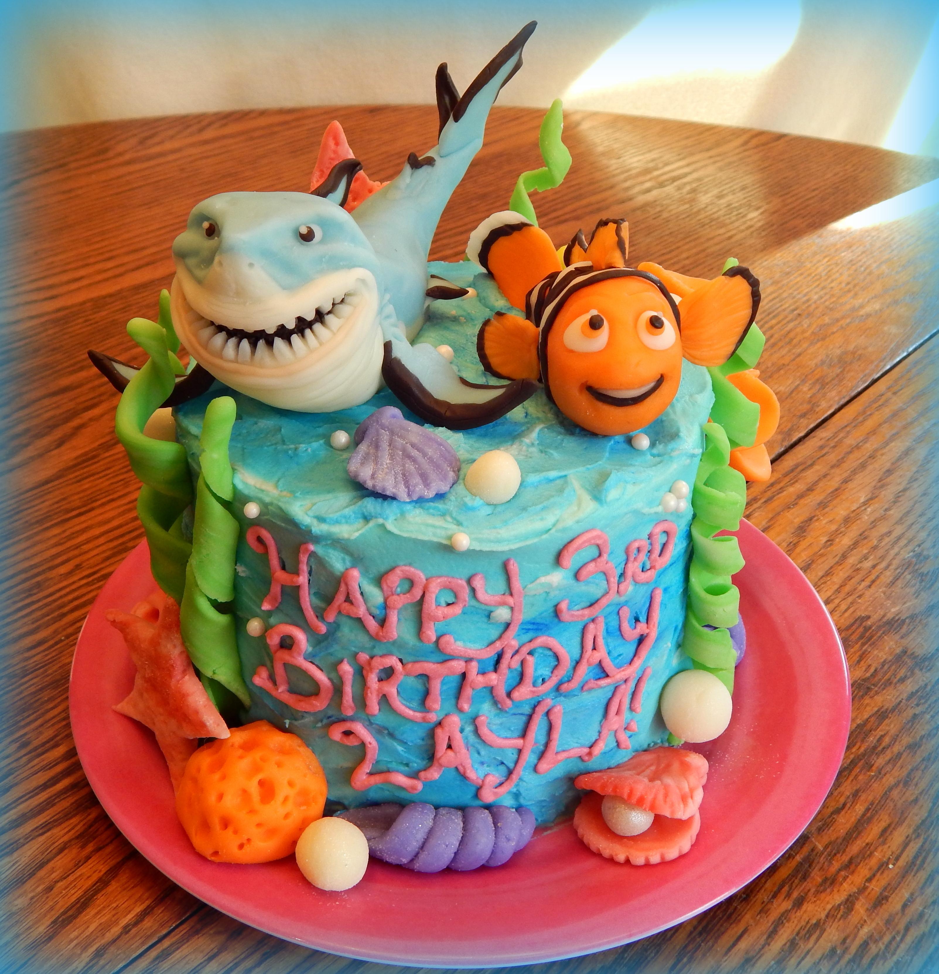 Nemo Cake: Bruce And Nemo Cake!