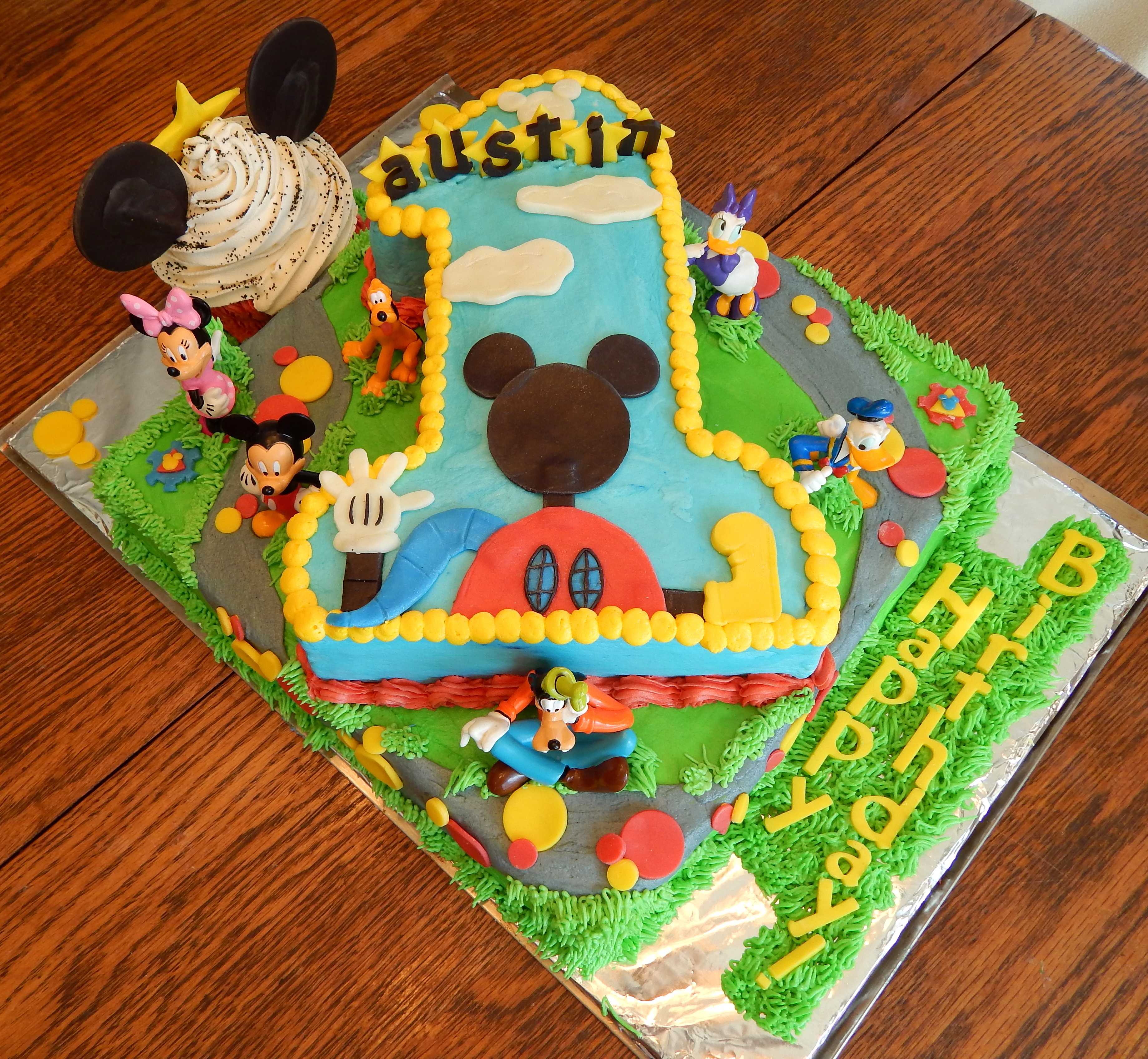 Mickey Mouse Clubhouse First Birthday Cake