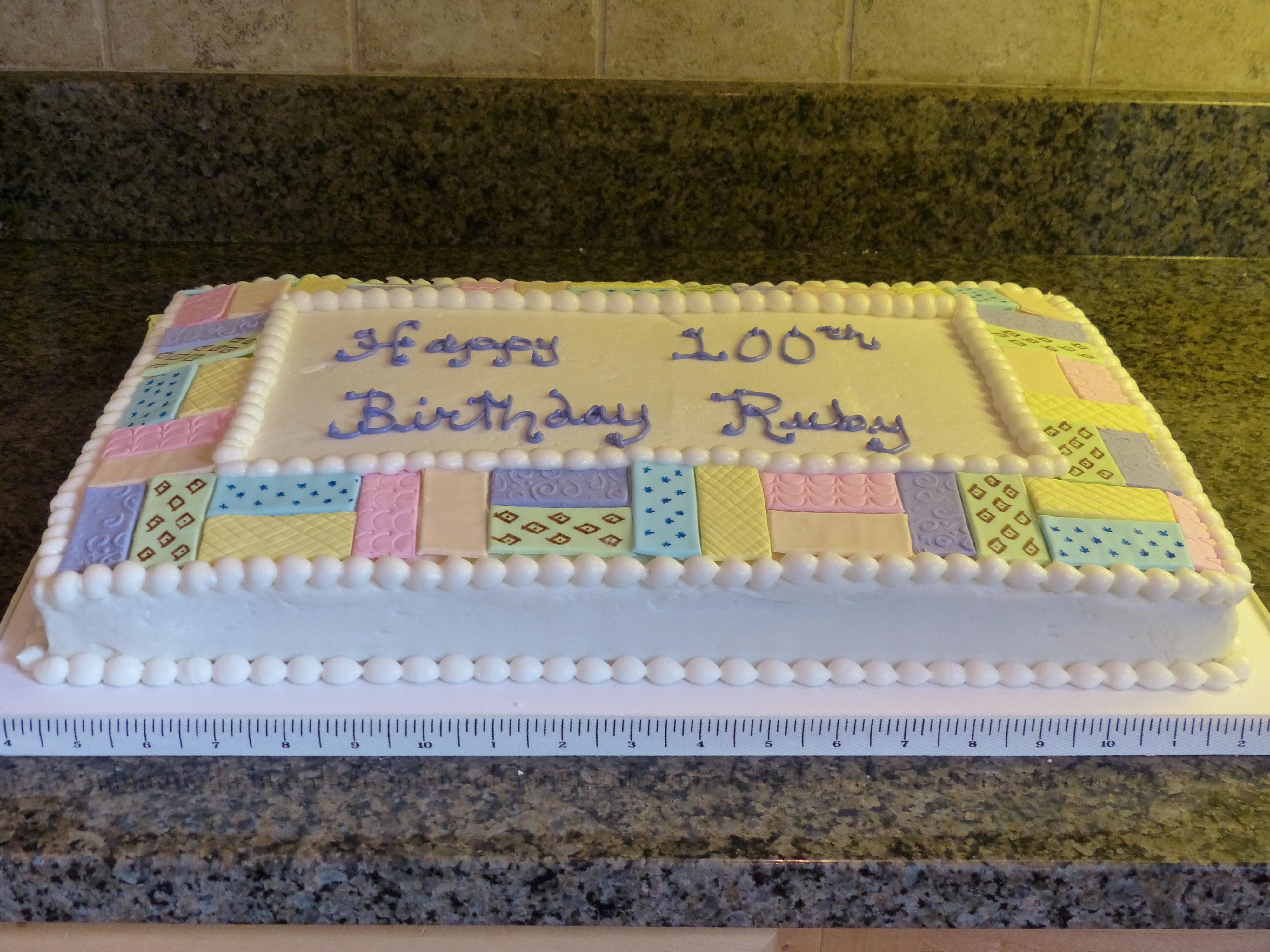 Cake Decorating Quilting Technique : Quilt Cakes - CakeCentral.com