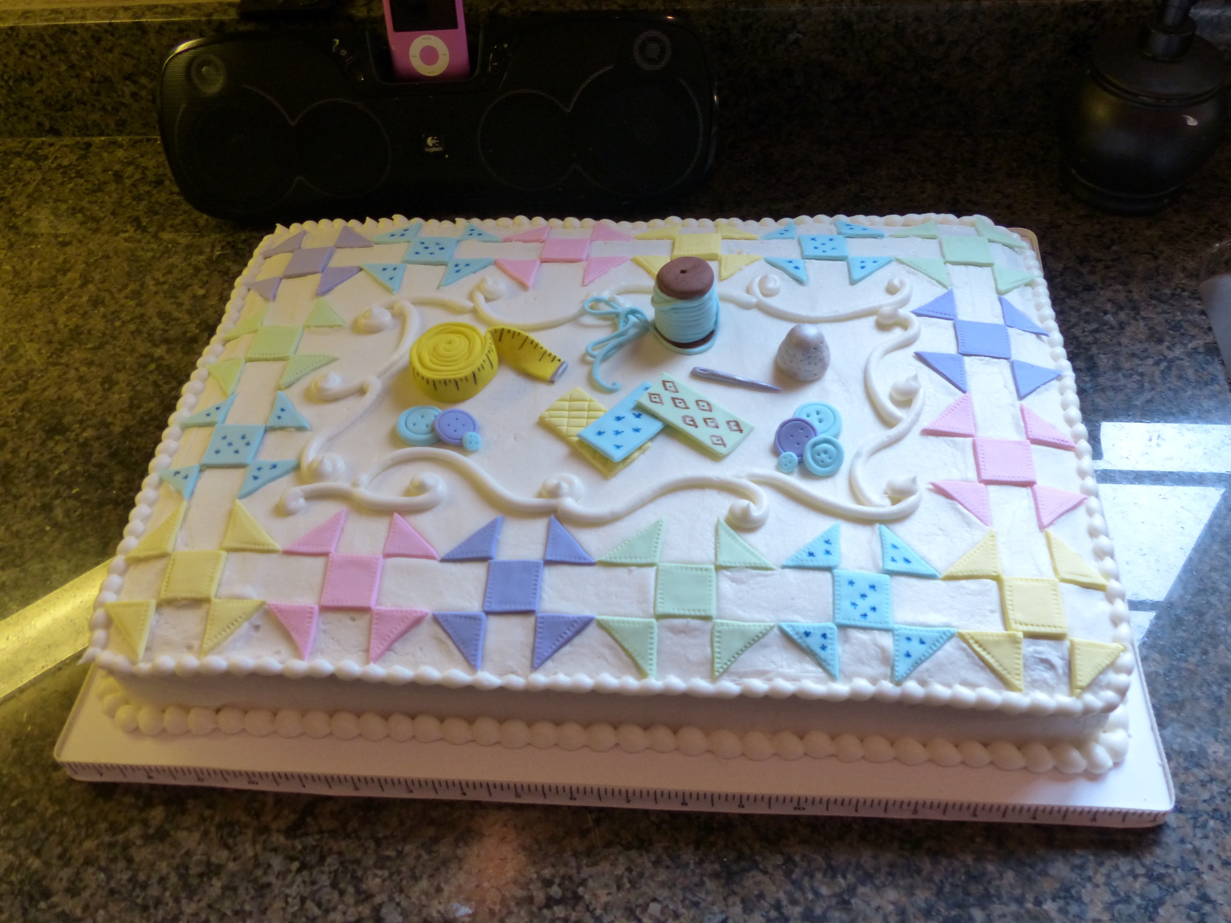 Quilted Cake Design : Quilt Cakes - CakeCentral.com