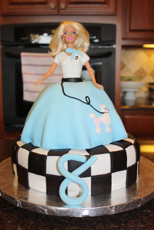 Sock Hop 50s Barbie Cake Cakecentral Com