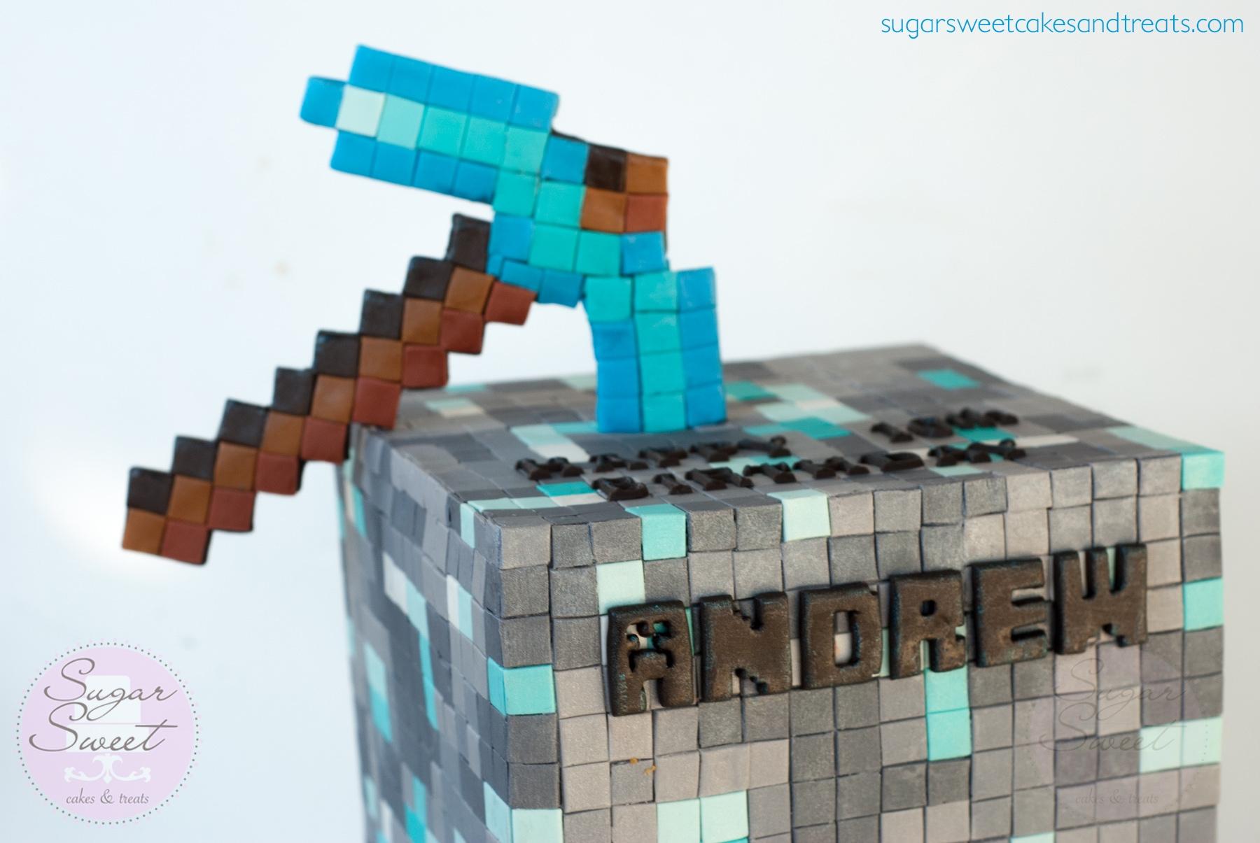 minecraft diamond cake