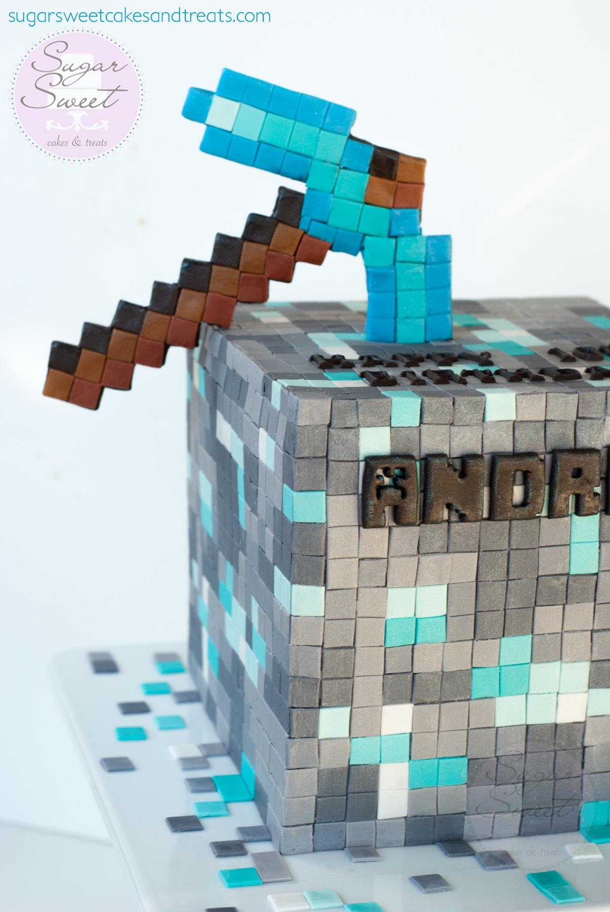 Diamond Ore Minecraft Cake Cakecentral Com