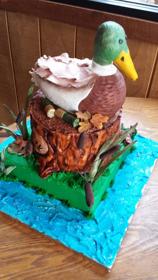 Duck Cake Decorations Uk : Mallard Duck Grooms Cake - CakeCentral.com