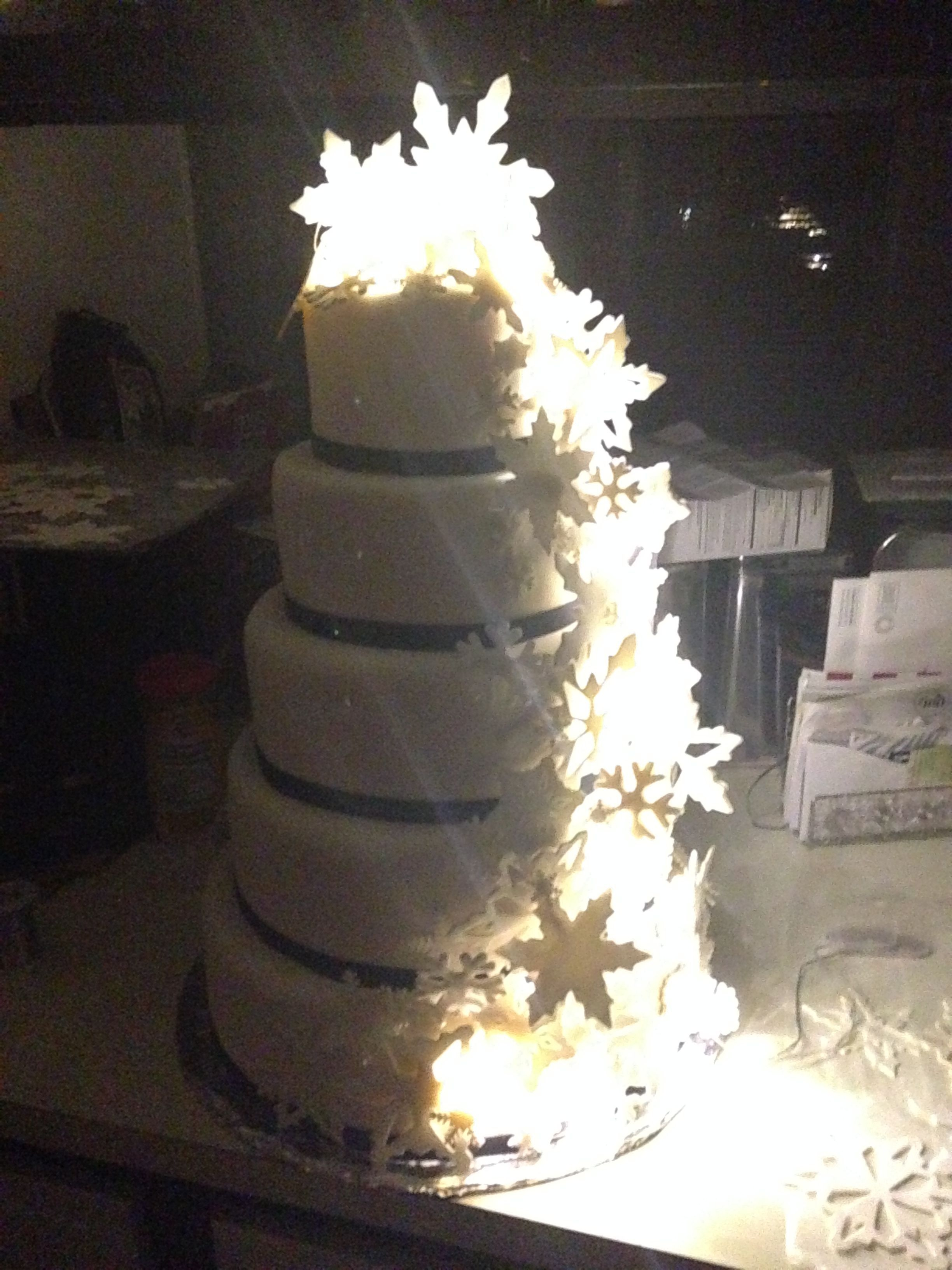 Winter Snowflake Wedding CakeCentral