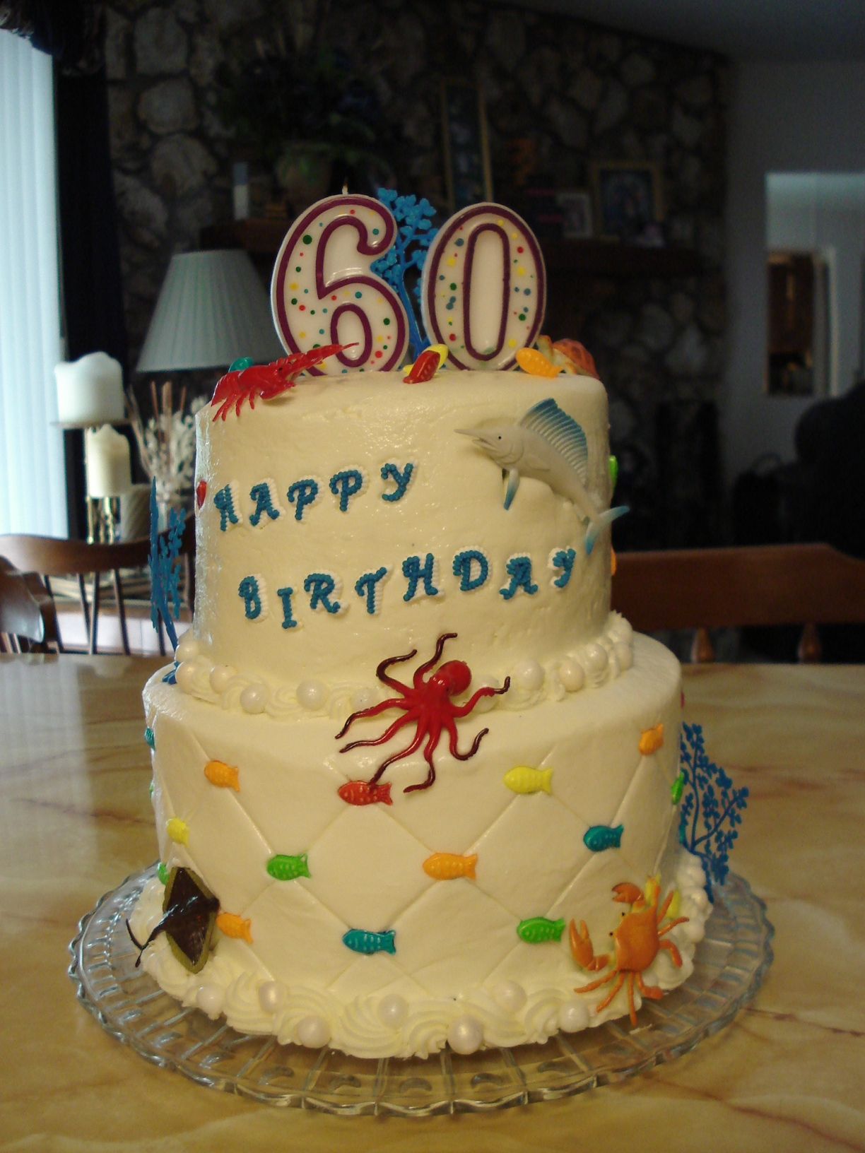 Birthday Cake Images Down : My Grandsons First Birthday Butter Cream Icing All Animals ...