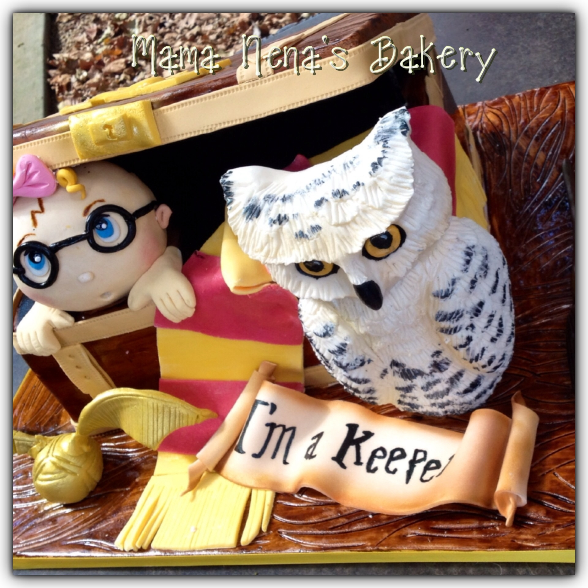 harry potter trunk baby shower cakeall is edible