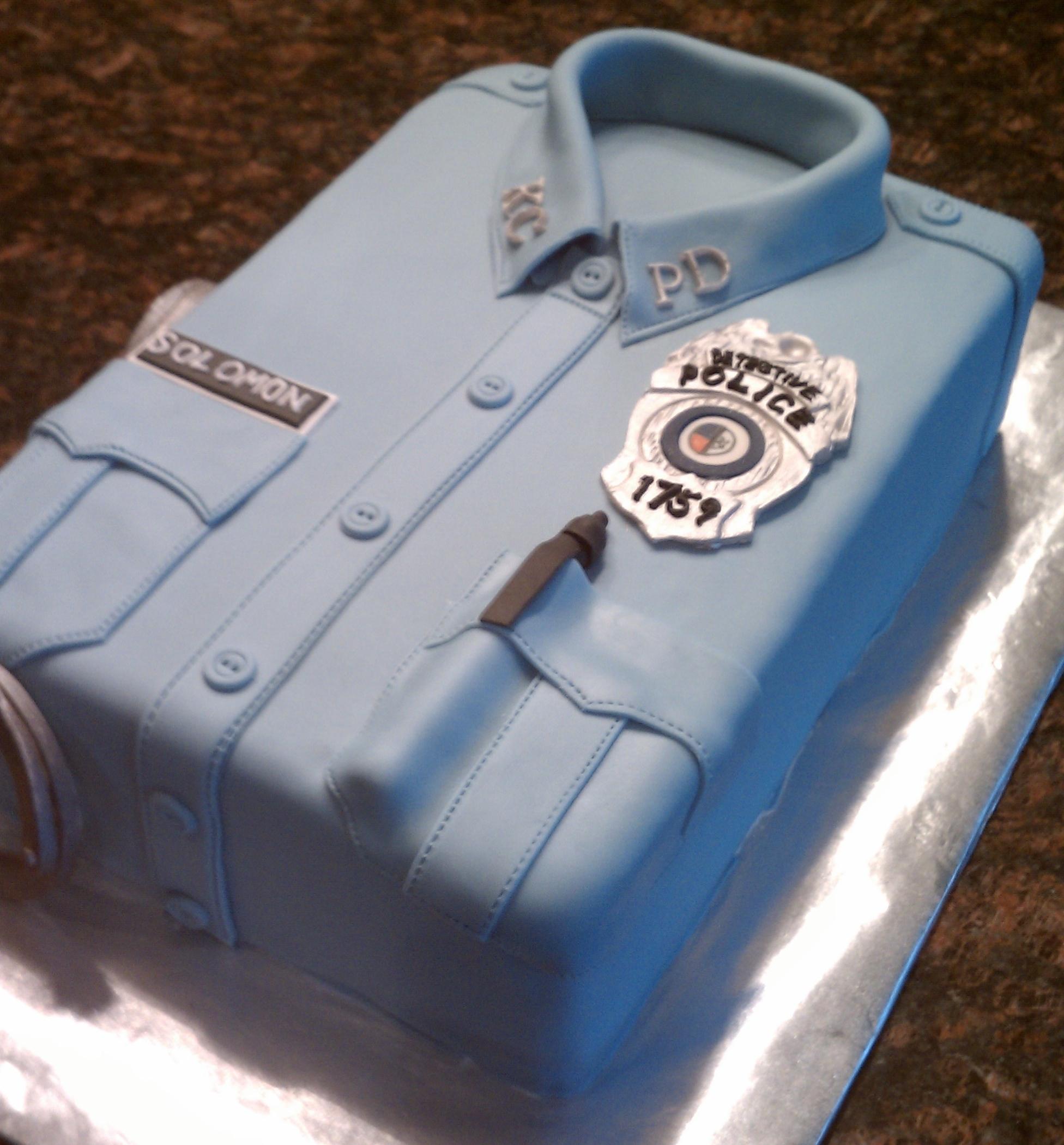 Cake Design For Police : Police Uniform Cake - CakeCentral.com