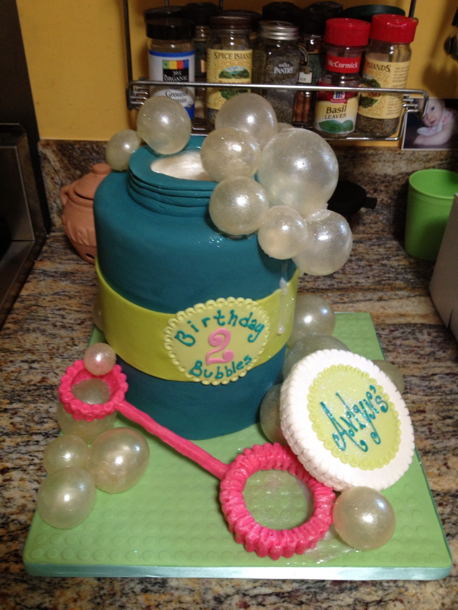 Cake Decorating Gelatin : Bubble Birthday - CakeCentral.com