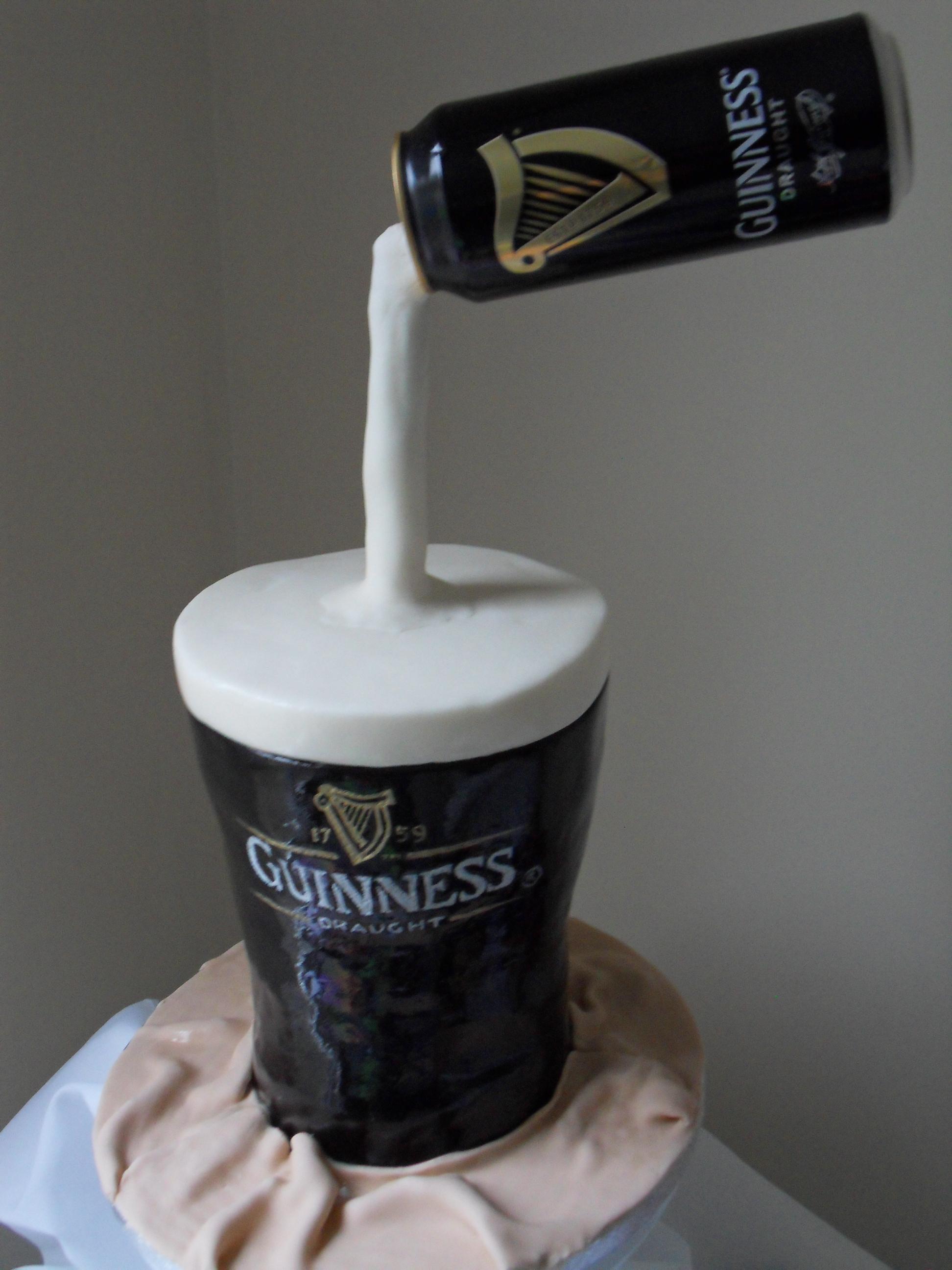 Glass Of Guinness Cake