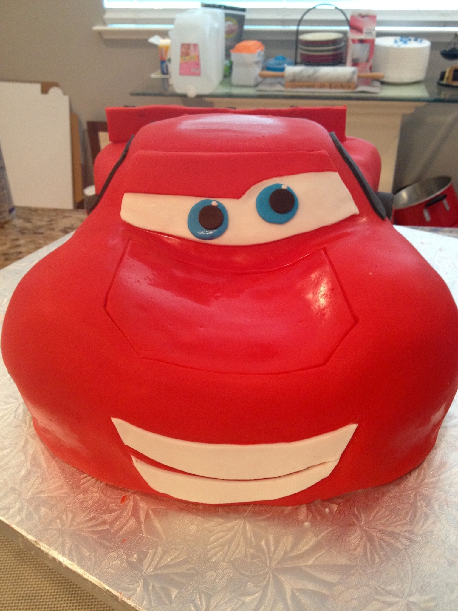 Lightning Mcqueen 3d Cars Disney Chocolate Cake Cut And