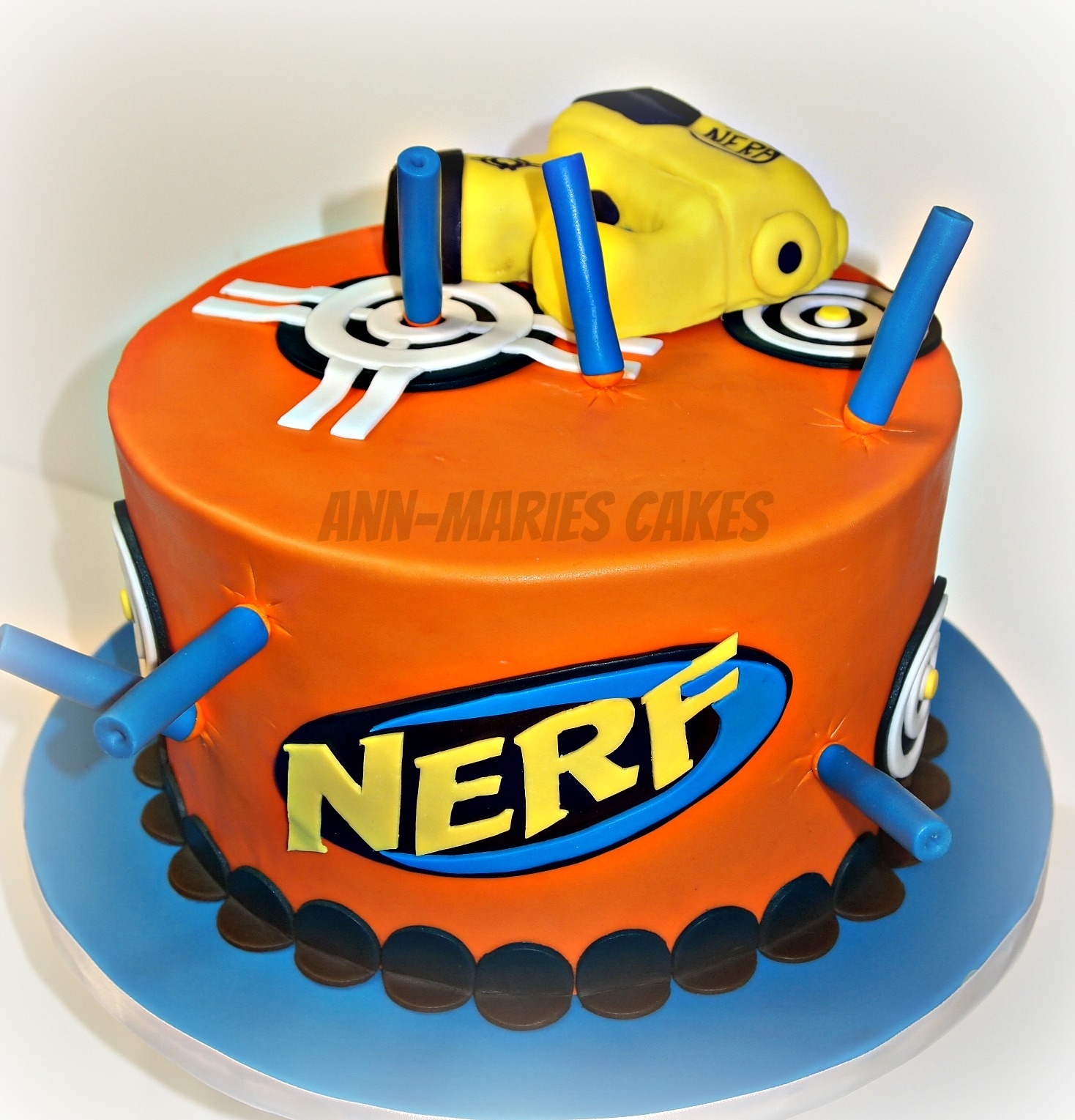 Nerf War Birthday Cake