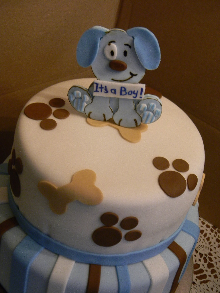 Puppy With Cake Birthday