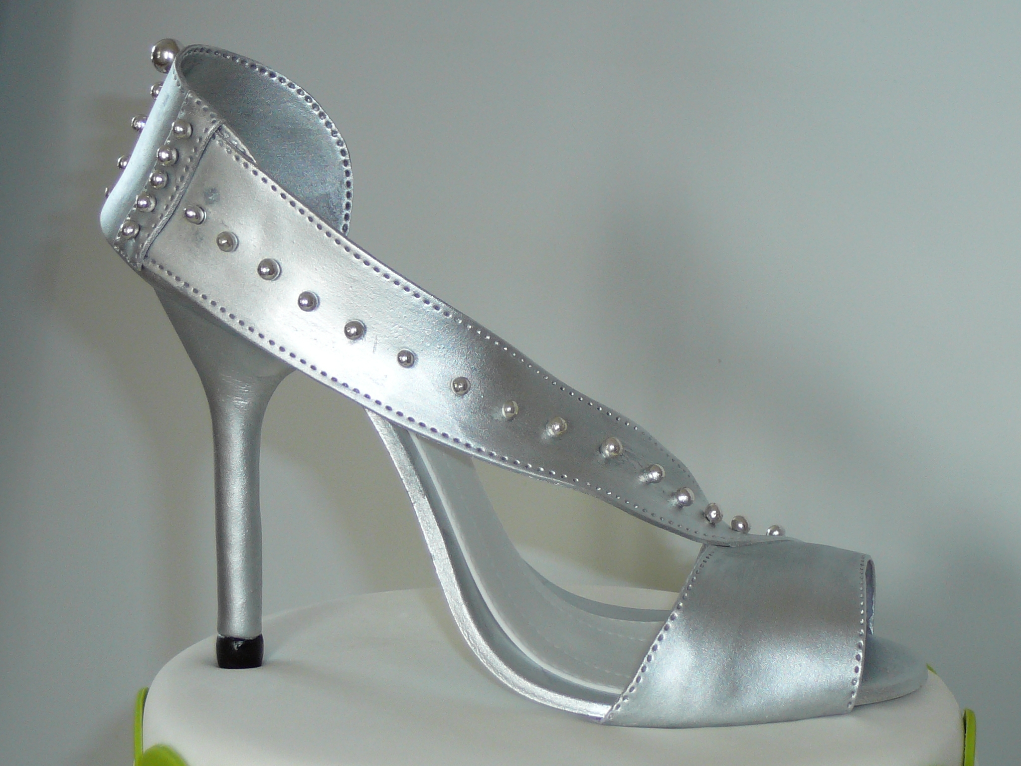 silver high heel shoe cakecentral
