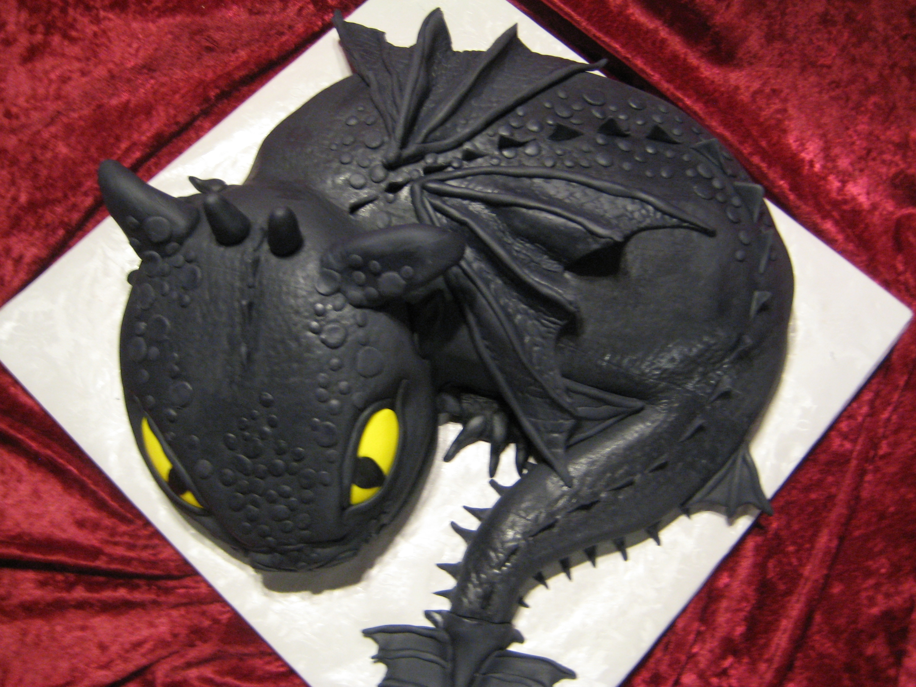 Dragon Cake Template