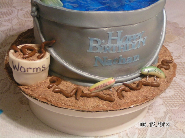 Fish In A Bucket Cake Bucket Is Made Of Chocolate Cake