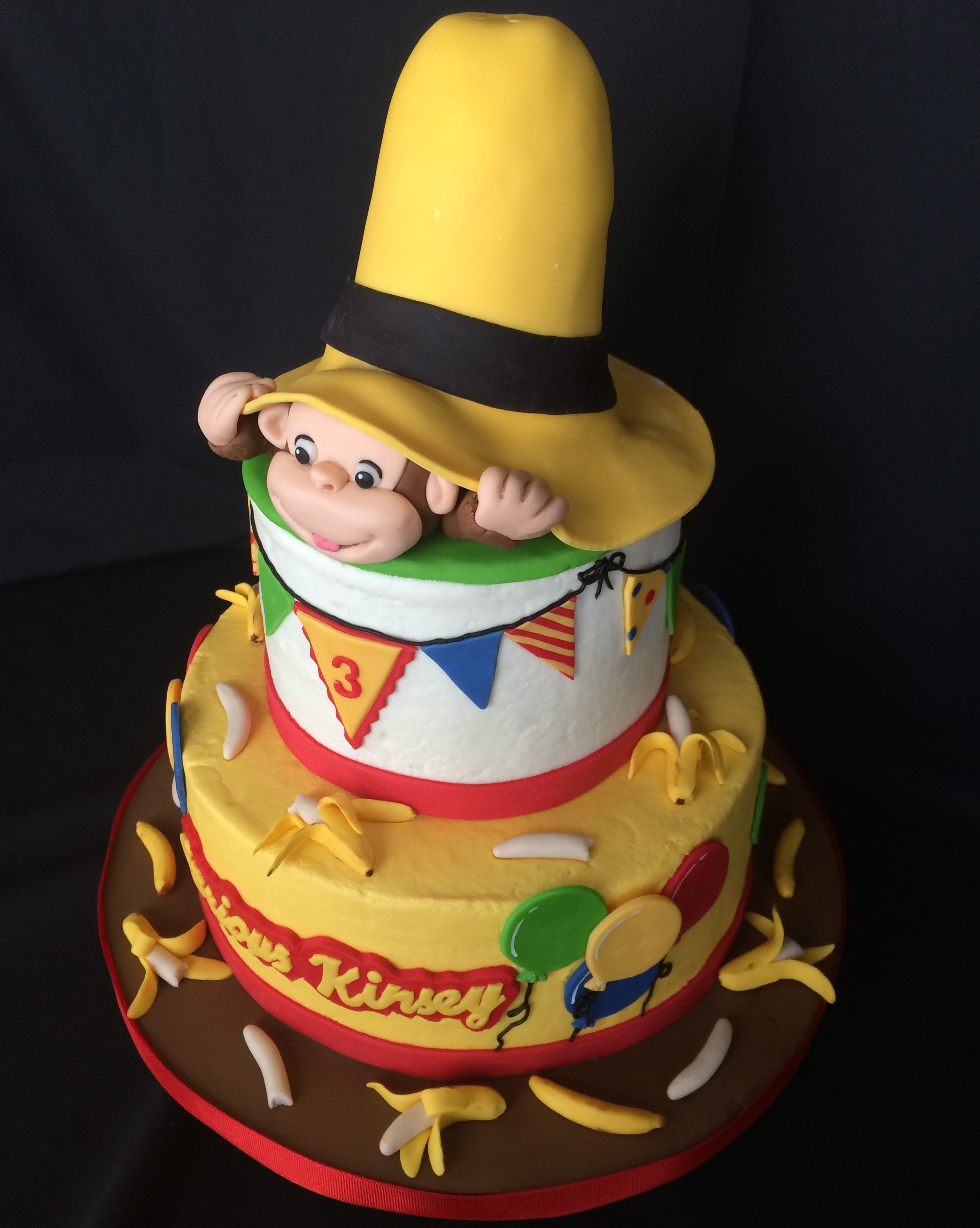 Curious George Hat Cake