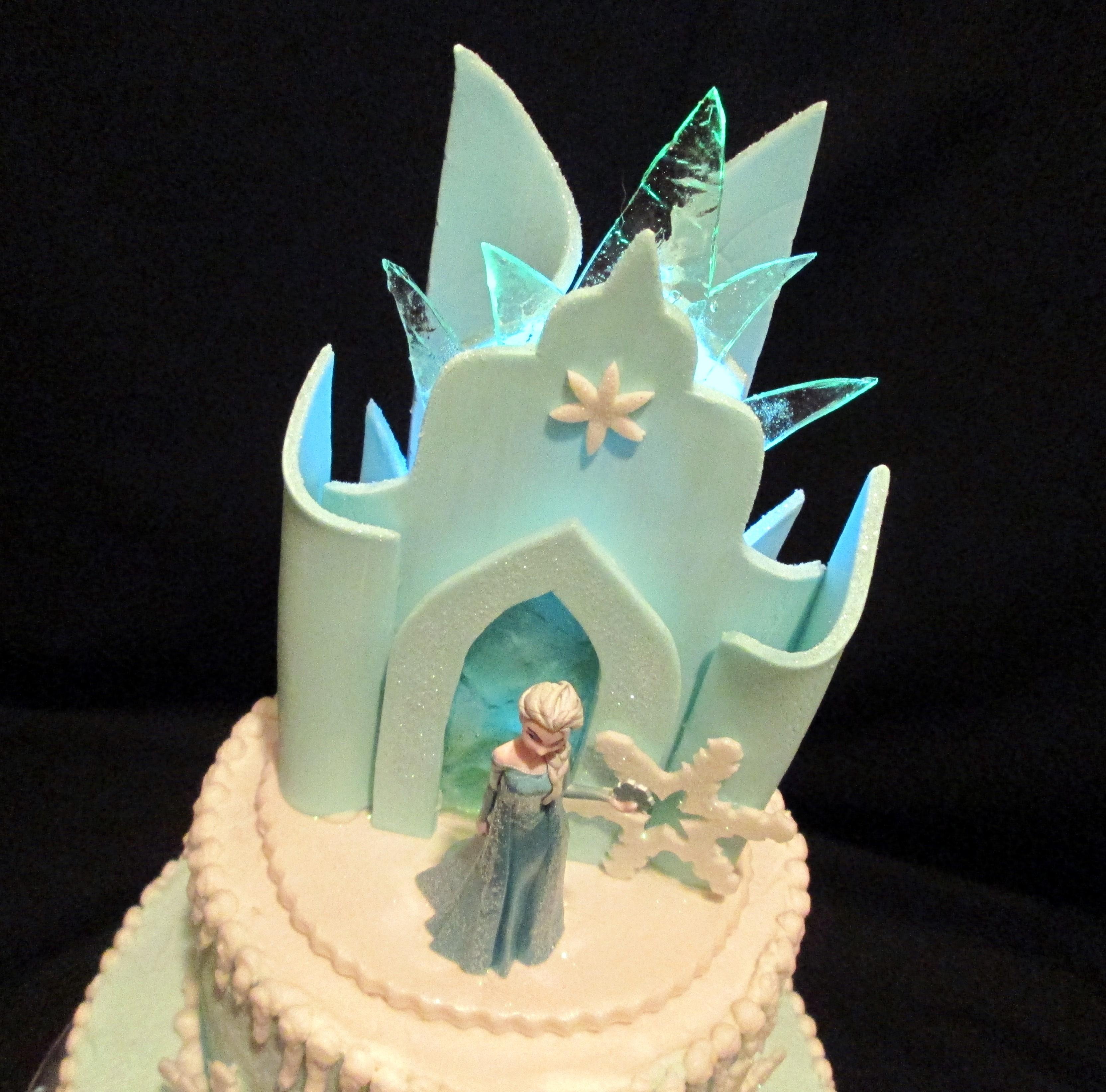 Frozen Castle Fondant Cake