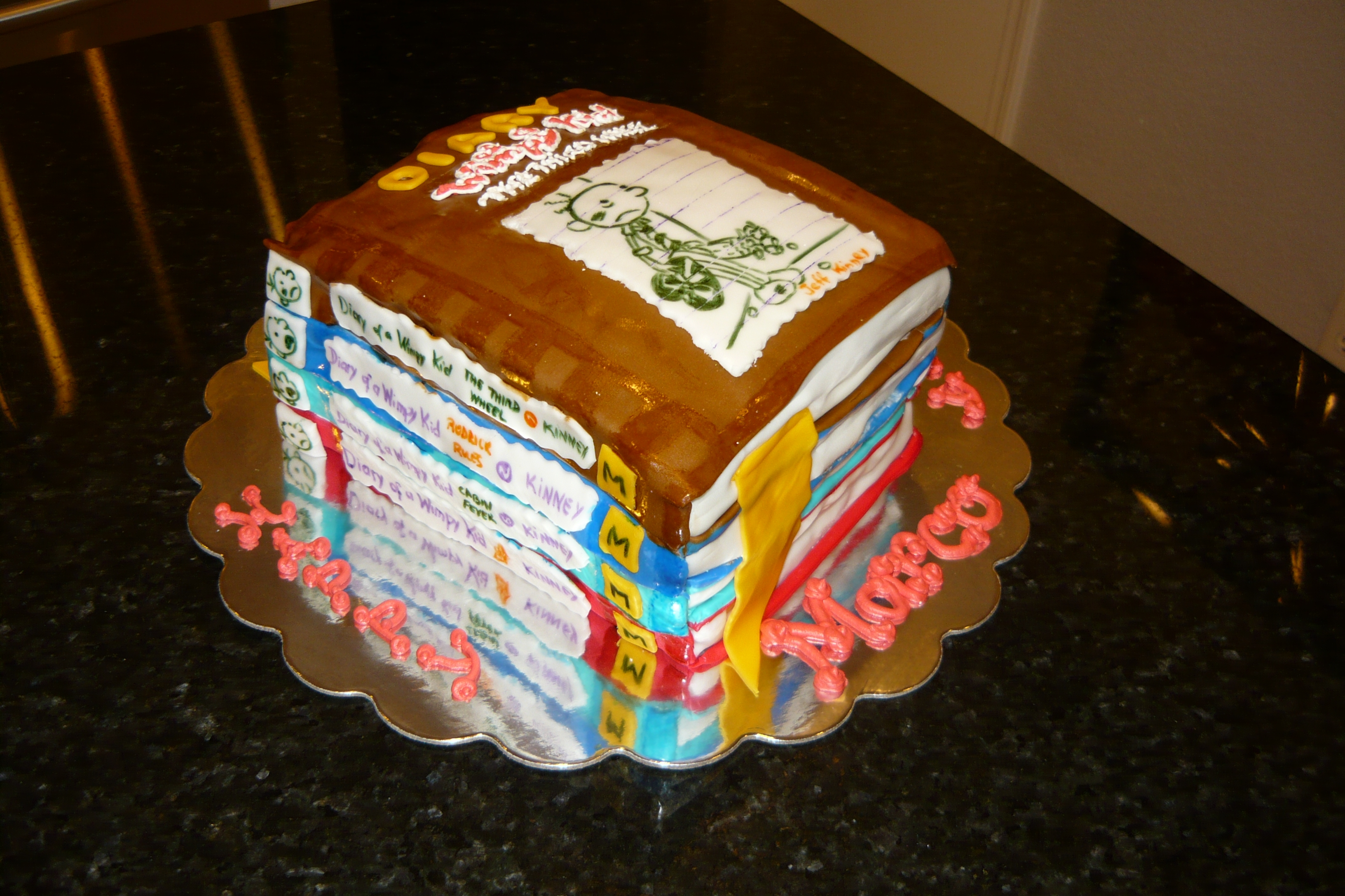 Diary Of A Wimpy Kid Cake Tutorial