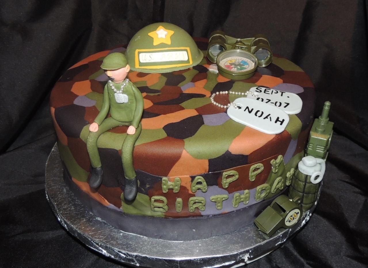 Birthday Cake Army Themed