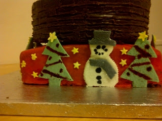 This was my 2012 christmas cake for my family i went for a Santa stuck in chimney cake