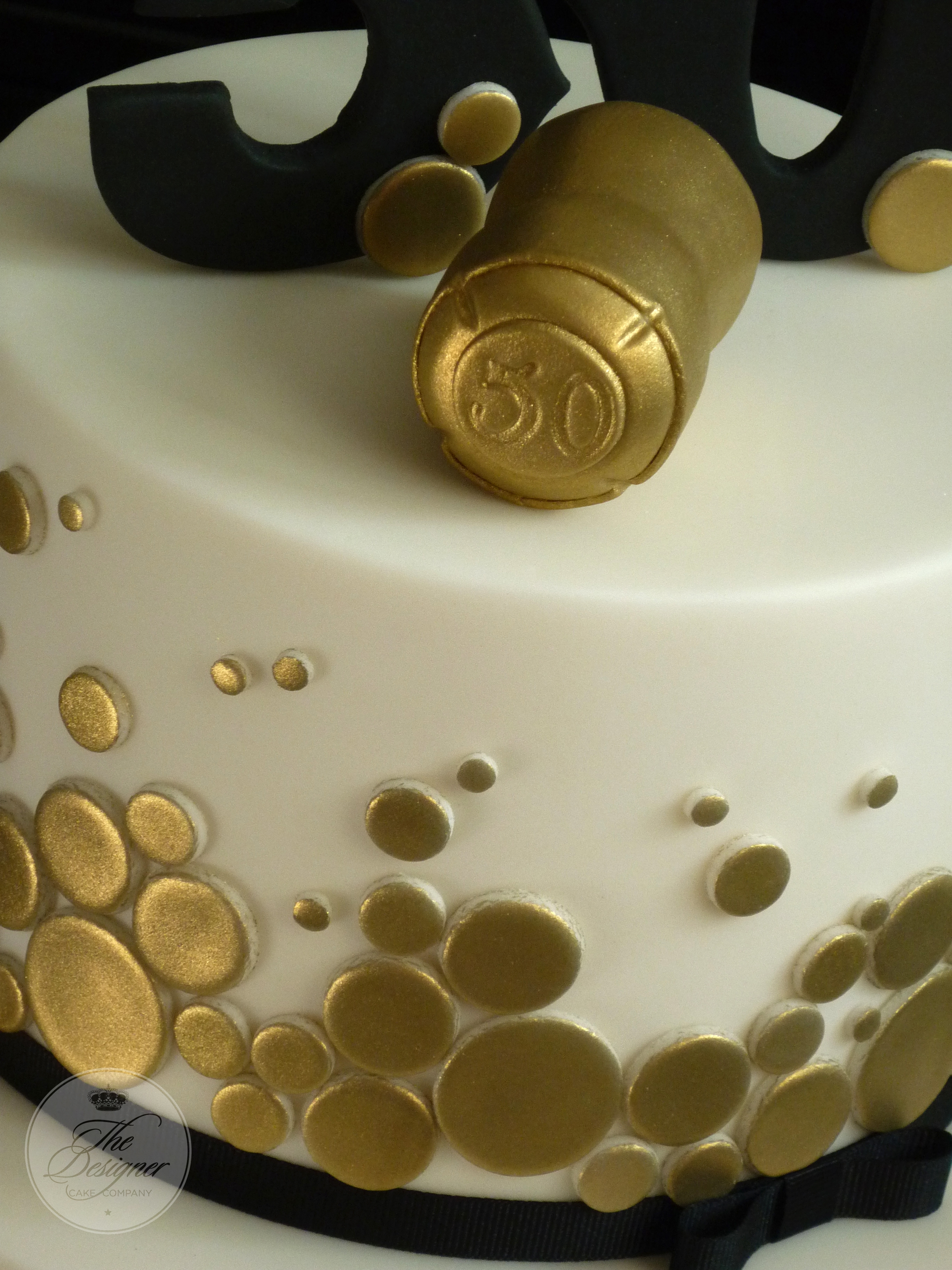Champagne Themed 50th Birthday Cake Cakecentral Com
