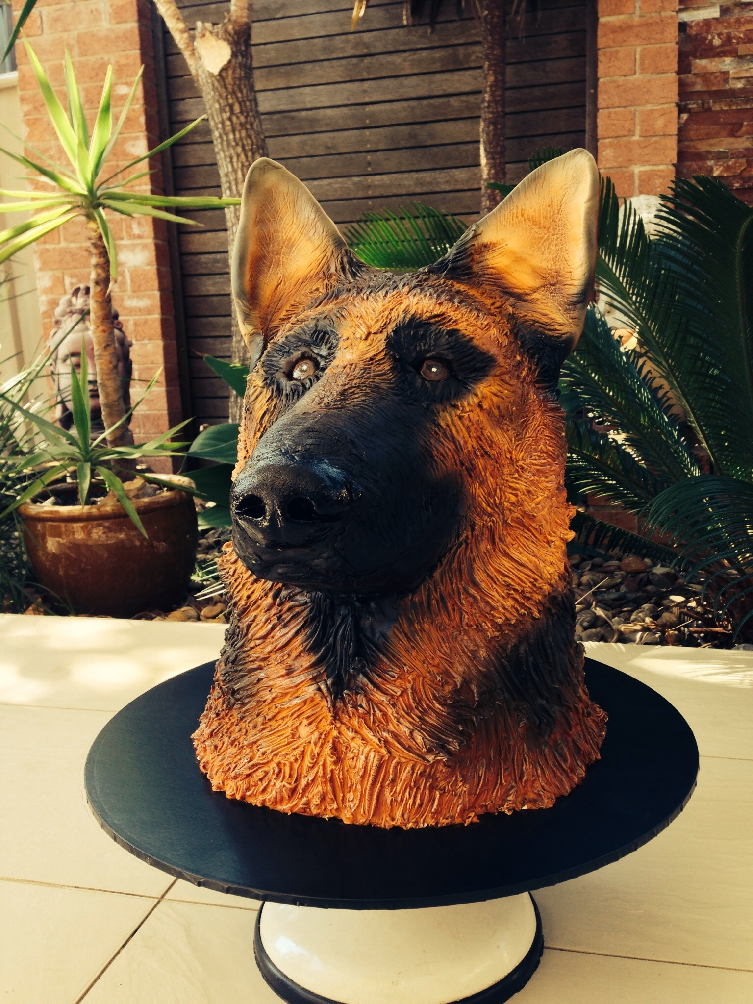 German Sheperd Birthday Cake