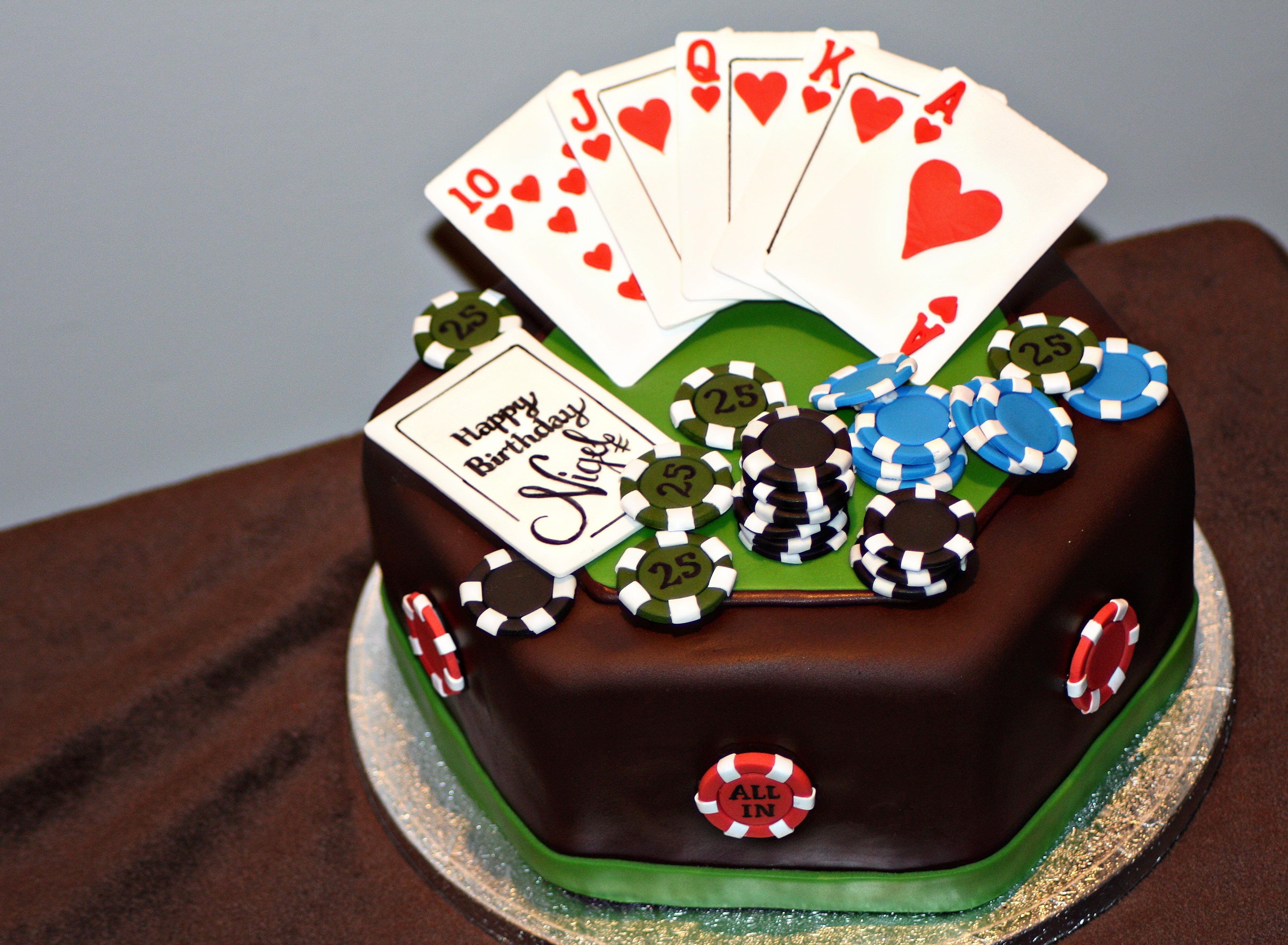 Poker Birthday Cake Cakecentral