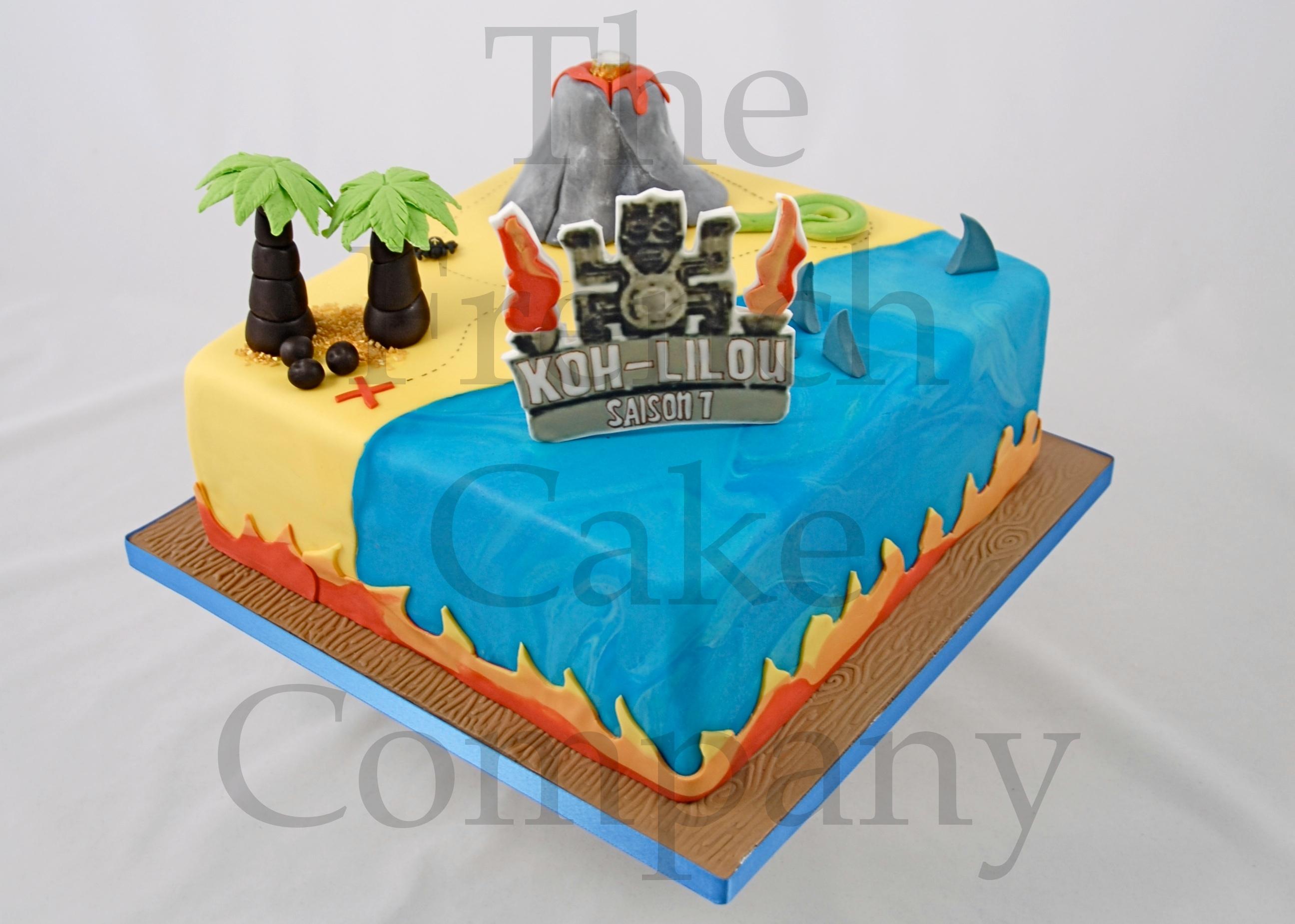 Cake for our little princesses for Decoration koh lanta