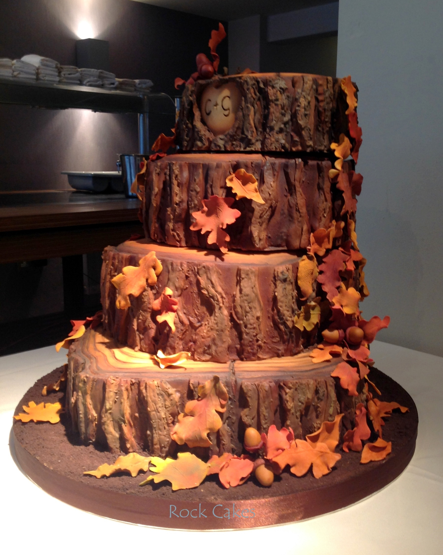 Autumn Wedding Cake - CakeCentral.com