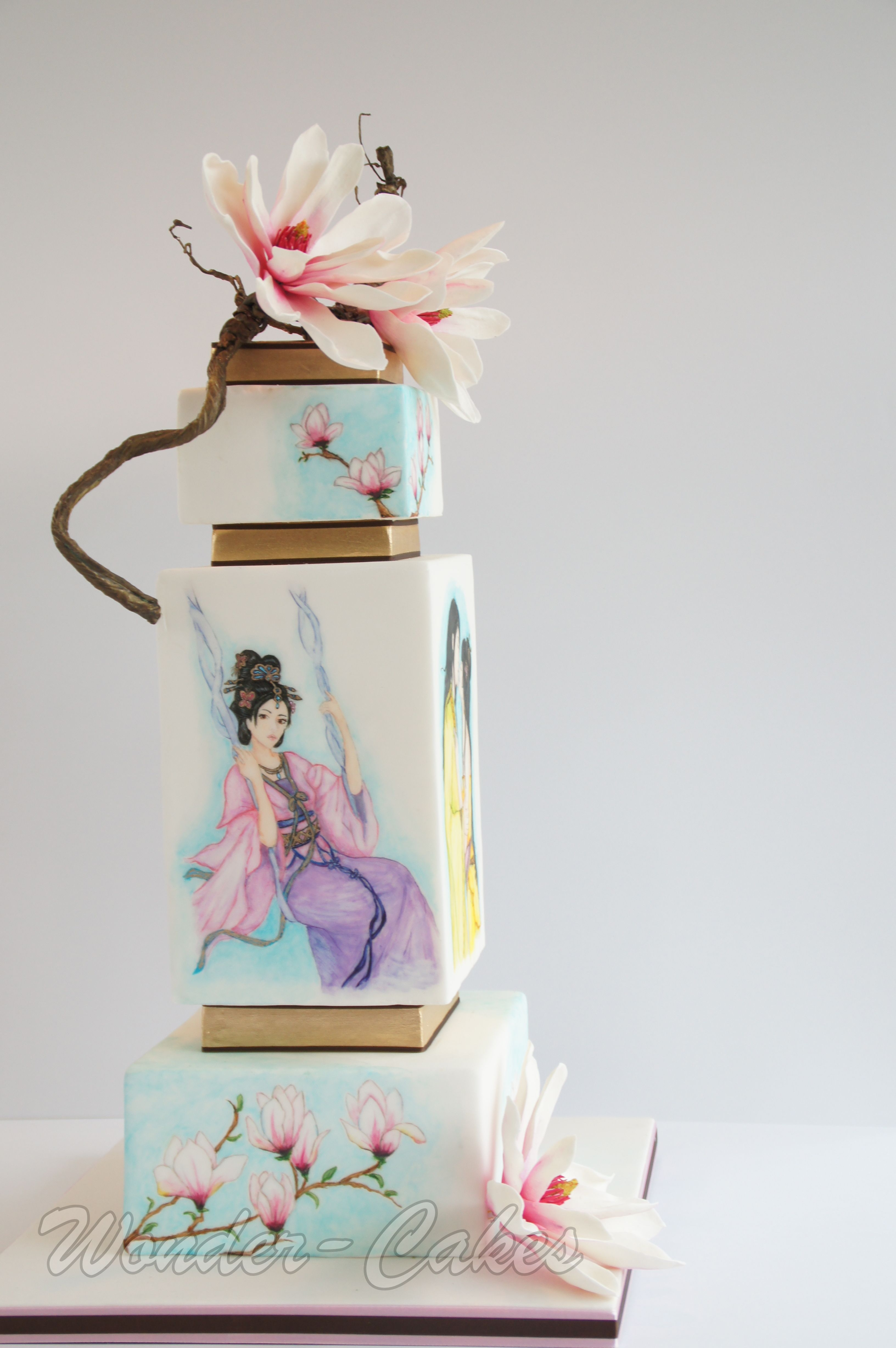 Japanese Painted Wedding Cake Silver Award Cakecentral Com