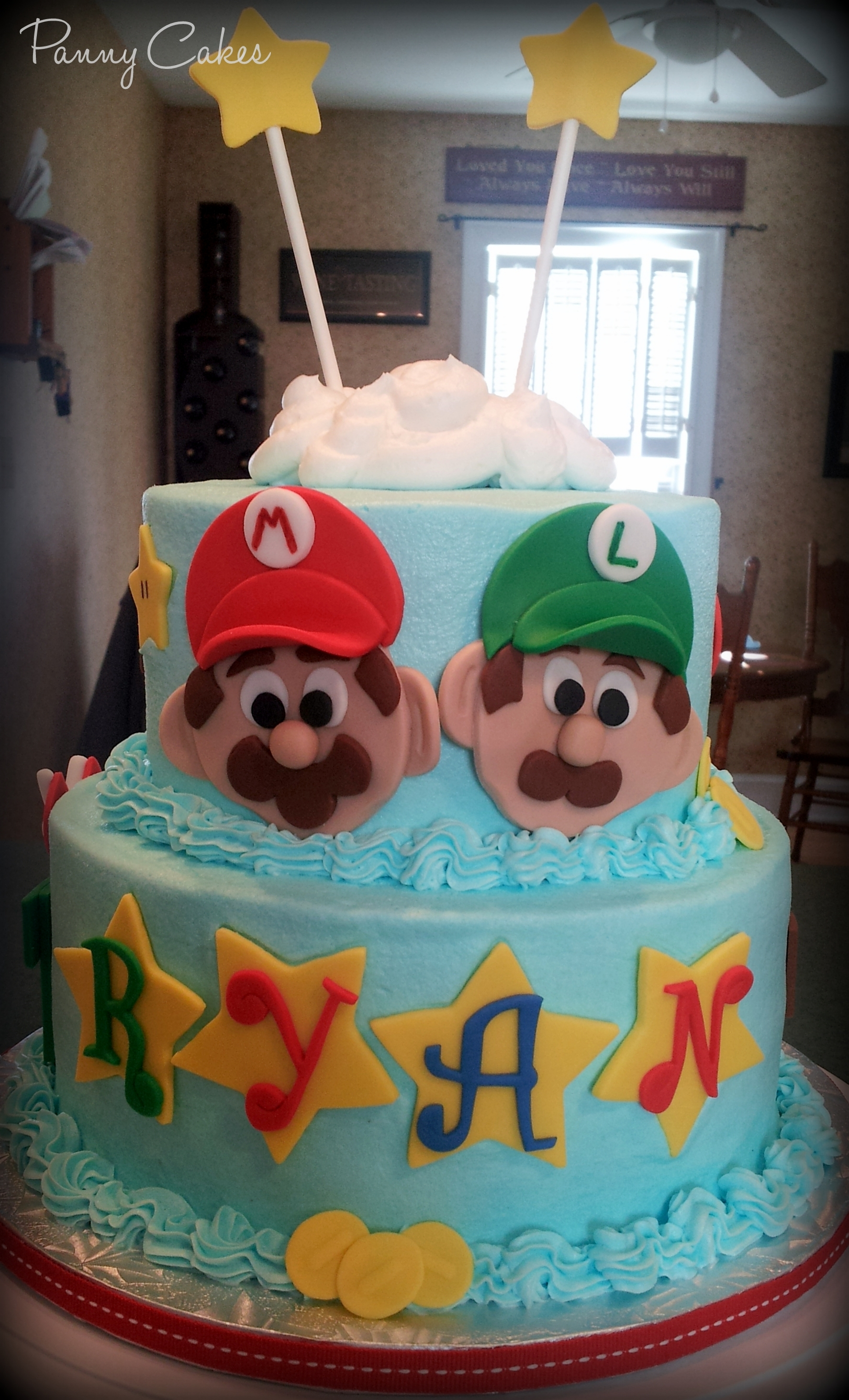 Super Mario Brothers Cake Is Dark Chocolate Fudge With