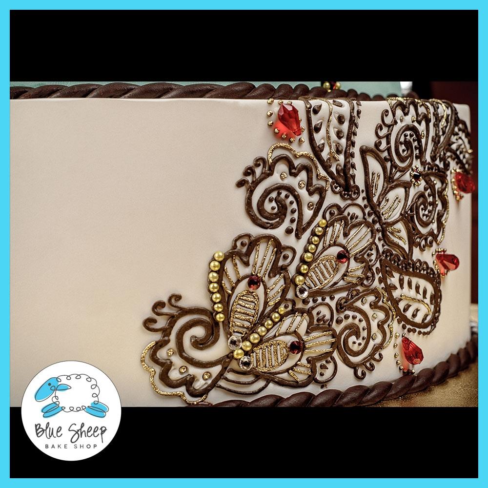 Mehndi Cake Qc : Henna inspired wedding cake cakecentral