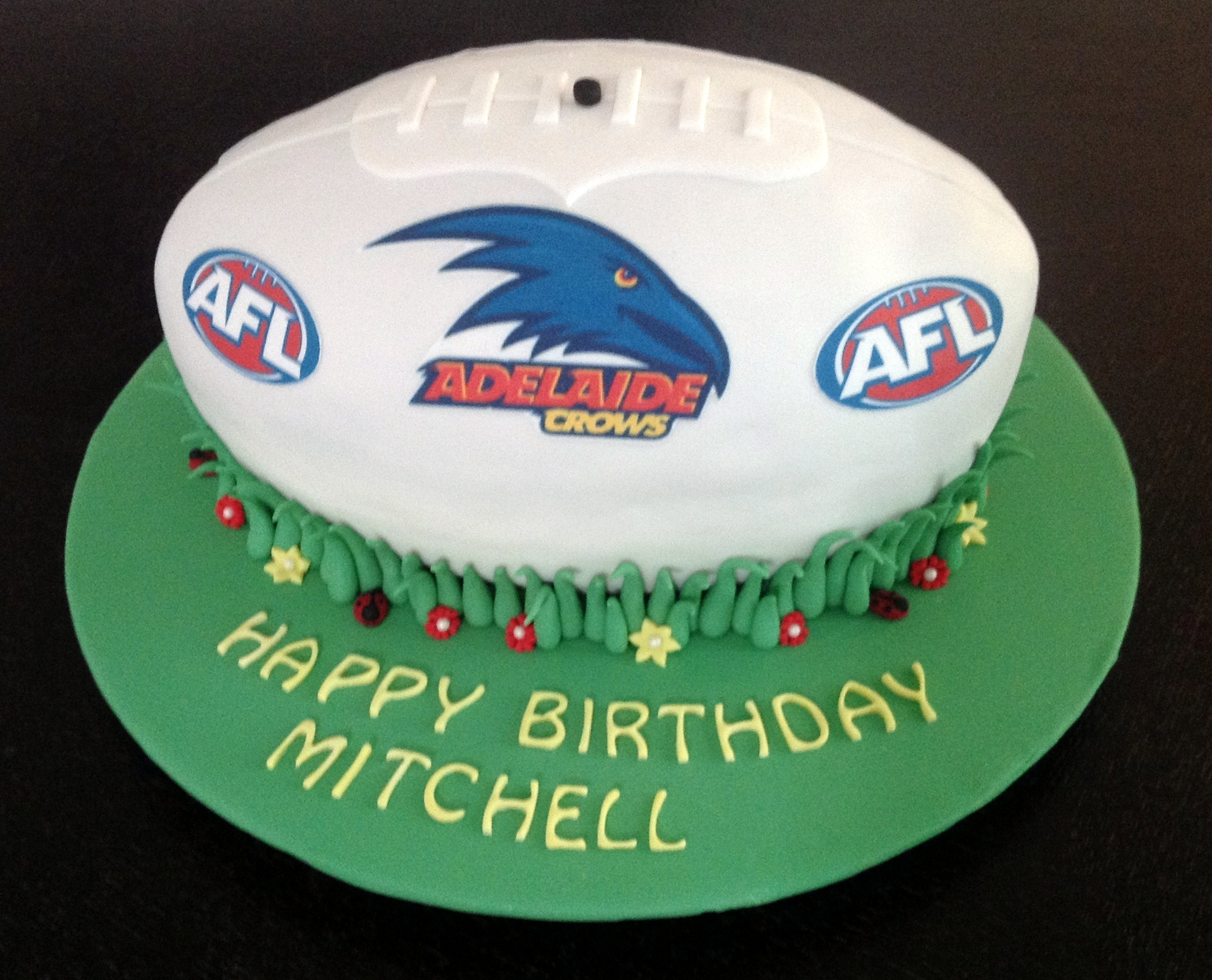 Edible Cake Images New Zealand : Afl Sherrin Football Cake - CakeCentral.com