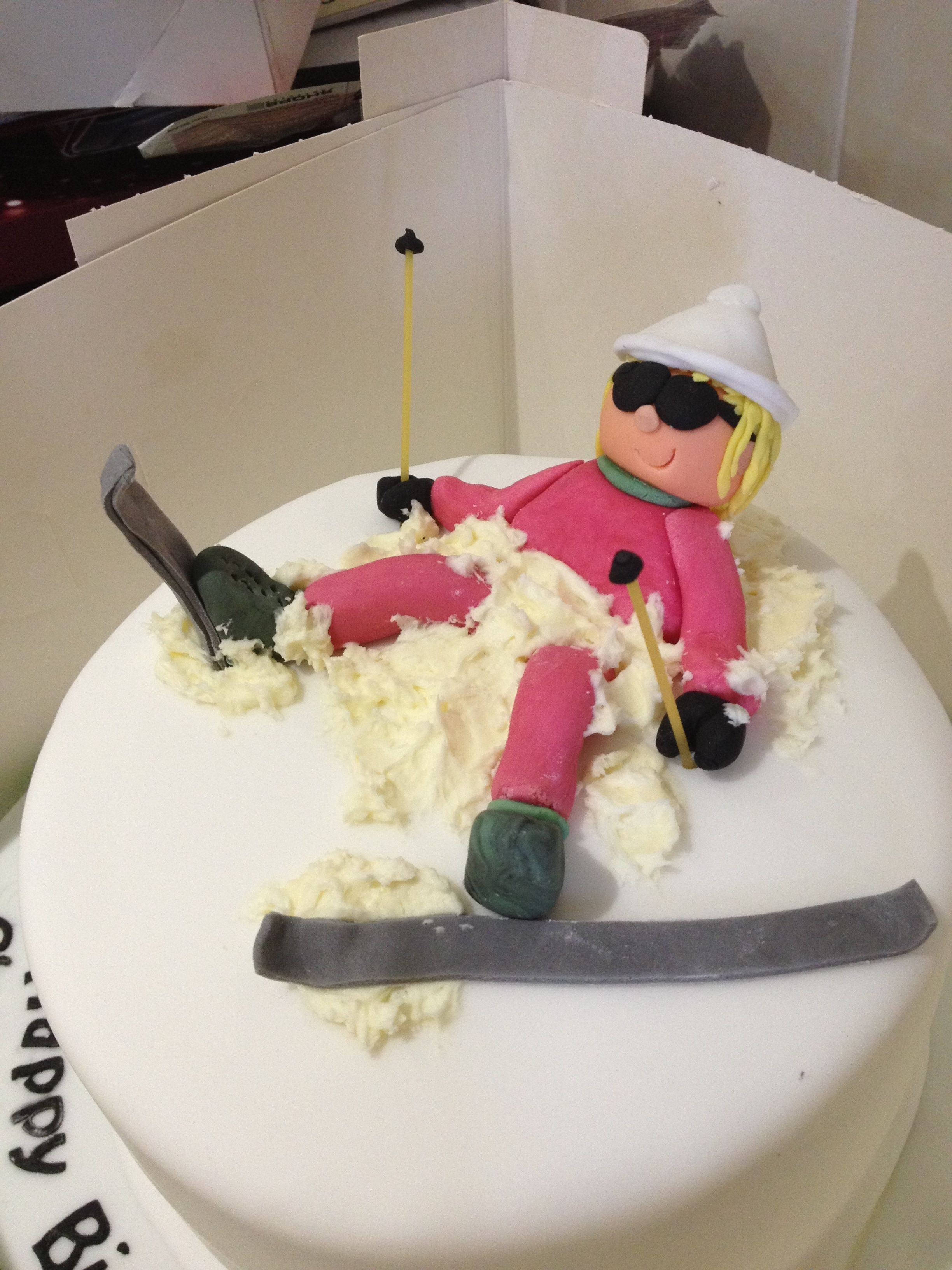 Birthday Cake Ideas Skiing Image Inspiration Of Cake And Birthday Decoration